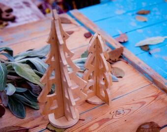 2 Wood Christmas Tree,Holiday Decor,2 Pallet Wood Christmas Trees