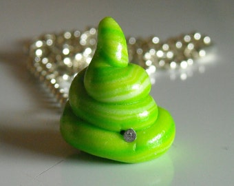 Zombie Poop Necklace, Radioactive - Glow-in-the-dark , Zombie Apocalypse, Zombieland, Home of the Original Zombie Poop