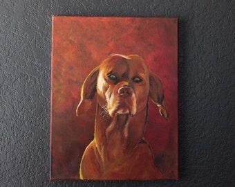 Custom pet portrait original acrylic on canvas