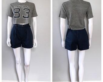 Vintage Blue shorts Palmettos cuffed shorts
