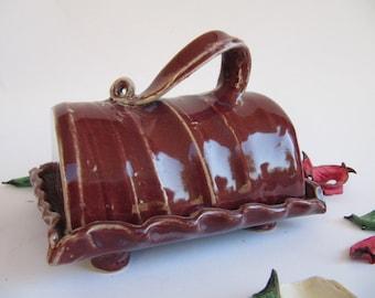covered ceramic butterdish