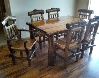 Rustic Arm Chair, Wood Chair, Reclaimed Wood Chair, Dining Room Chair, Log Chair