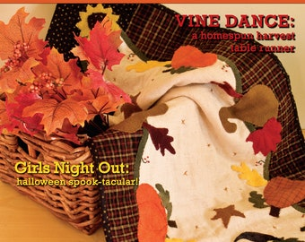 On Sale, Quilting Magazine, Canadian Magazine, Charm Square Project, Fall, Sew, Quilters Connection, Homespun Runner, Halloween,  Issue 5