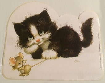 Cat and Mouse Sticker.Morehead Inc./Introduct Ljsselstein(Utr.)Holland