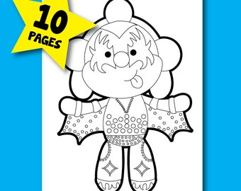 KISS Coloring Pages