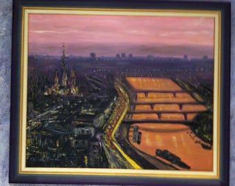 rouen sunset oil painting
