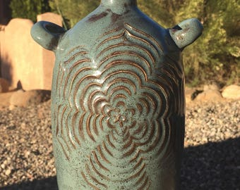 Carved Ceramic Bottle