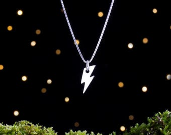 Sterling Silver Lightning Bolt Charm - Small Double Sided - (Charm, Necklace or Earrings)