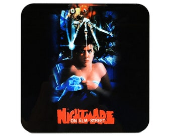 A Nightmare on Elm Street Coaster A Nightmare on Elm Street Drink Coaster Freddy Krueger Coaster Horror Coaster A Nightmare on Elm St
