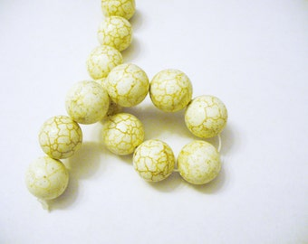 Magnesite Beads Gemstone White Round 16MM