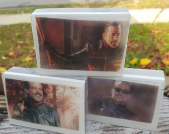 Walking Dead Graphic Art Soap Bar - Negan - Novelty Soap - AN AJSWEETSOAP EXCLUSIVE