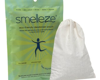 SMELLEZE Reusable Home Smell Removal Deodorizer Pouch: Rids Stinky Odor Without Scents in 150 Sq. Ft.