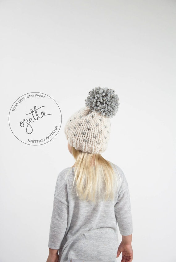 Knitting Pattern - Children\'s Fair Isle Knit Hat With Pom Pom - The ...