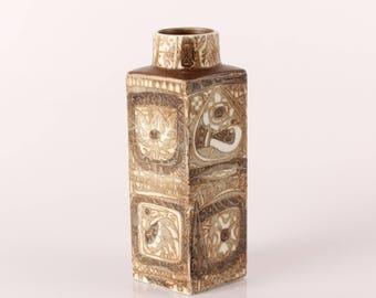 Royal Copenhagen Vase by Nils Thorsson, Baca line 719/3259 with Birds - Denmark mid century