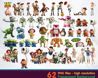 Toys story clipart -  Digital 300 DPI PNG Images, Photos, Scrapbook, Cliparts - Instant Download