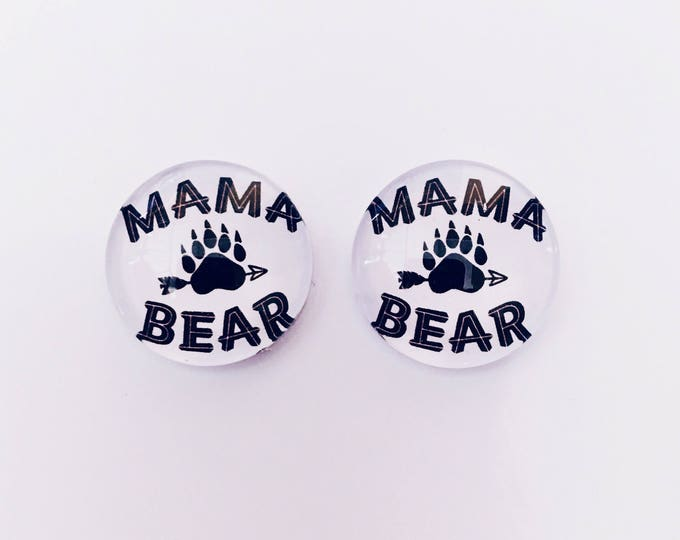 The 'Mama Bear' Glass Earring Studs