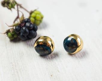Porcelain Stud Earrings, Ceramic Stud Earrings, Stud Earrings, Porcelain Handmade Earrings, Moon Earrings, Celestial Jewelry, Star Earrings