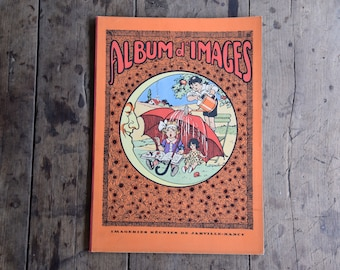 Old Album of pictures for children: 23 boards french stories illustrated
