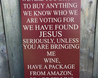 Handmade No Soliciting Sign - No Soliciting - Please Go Away - Wooden Porch Sign - Bring Me Wine - Funny Front Porch Sign