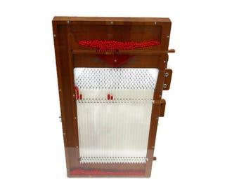 Vintage Wooden Probability Balls Lightning Office School Calculator