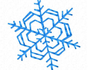 Small Snowflake Machine Embroidery Design ~ Instant Download