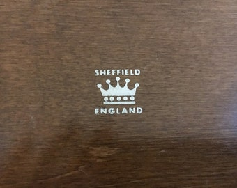 Vintage Sheffield England Prill Cutlery Box