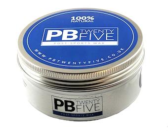 MASSAGE WAX - PB TwentyFive post-sports massage wax (150ml or 250ml) aromatherapy massage oil