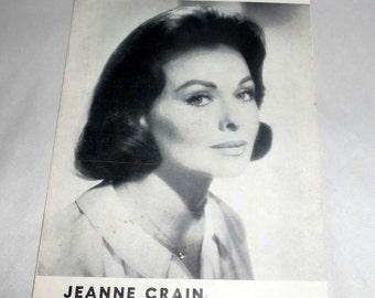 Vintage 1966 Rare Jeanne Crain Ivanhoe Stagebill - I Found April