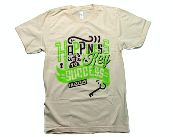 Happiness is the key to success   American Apparel T-Shirt