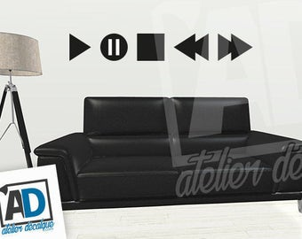 Wall sticker R-013 music (play pause stop ...)