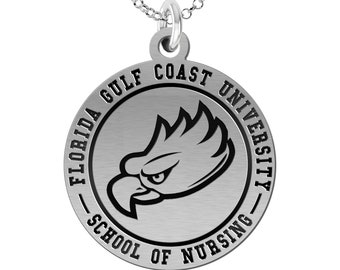 Florida Gulf Coast University School of Nursing Charm | Sterling Silver | Officially Licensed