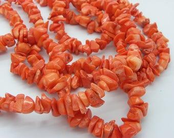 1 strand coral orange color coral in 40 cm