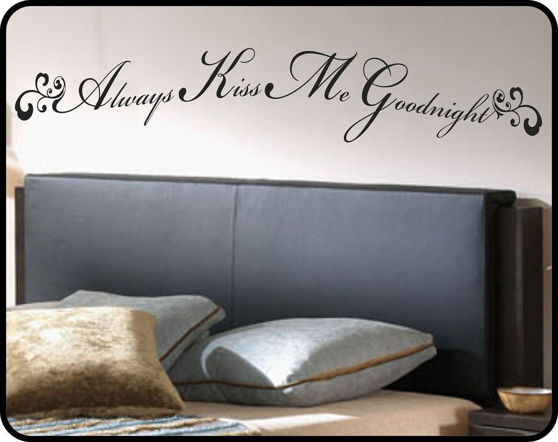 Always Kiss Me Goodnight wall decal sticker art romantic