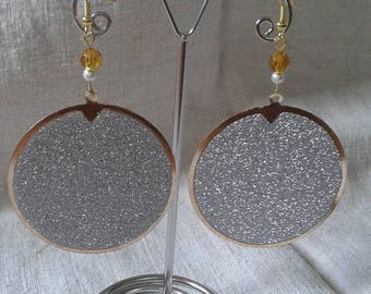 Golden and shiny Silver earrings