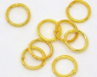 100 - 9mm Gold Plated Jump Rings