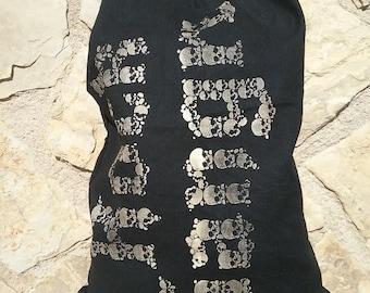 Cotton bag Rock Sangre skulls