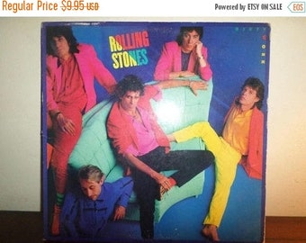Vintage 1986 Vinyl LP Record Dirty Work The Rolling Stones Very Good Condition 11915