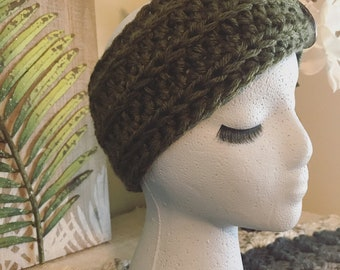 Forest Green Ear Warmer