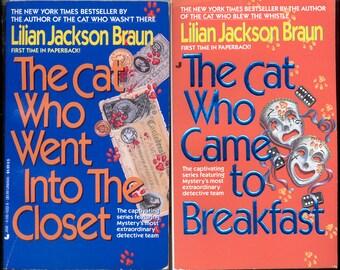 Lilian Jackson Braun Novels - (Two Paperbacks)