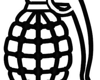 Hand Grenade Embroidery File