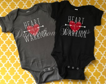 Heart Warrior Heart of a Warrior Bodysuit CHD Awareness Gift Survivor T-Shirt