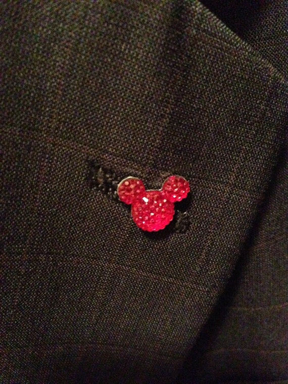 Mouse Ears Lapel Pins for themed Wedding Groomsmen Tie tack or Sweater Scatter Pin FREE Gift Box