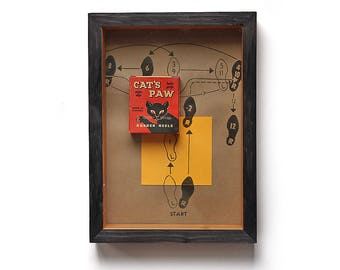 Vintage Box Art - Cat's Paw Heels box