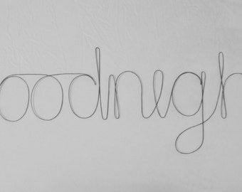 GOODNIGHT Wire Words Wall Hanging