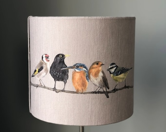 Birds on a branch 30cm diameter lampshade