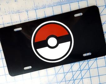 Pokemon Ball / Pokeball Custom License Plate