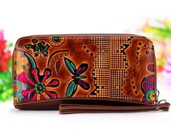 Huawei P10 case wallet, Huawei P10 plus wallet, Wristlet Wallet, Phone Wristlet, Wristlet Clutch, Zippered Wristlet Bag