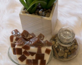 Goodness - Brown & White luxury natural glycerin soap.