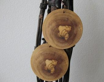 Olive wood earrings / wooden earrings / handmade jewelry / handmade earrings / gift for her / gifts for women