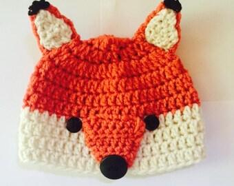 Baby Fox Woodland Critter Beanie Style Hat
